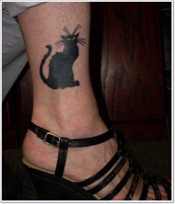 black-cat-tattoo-on-ankle-2
