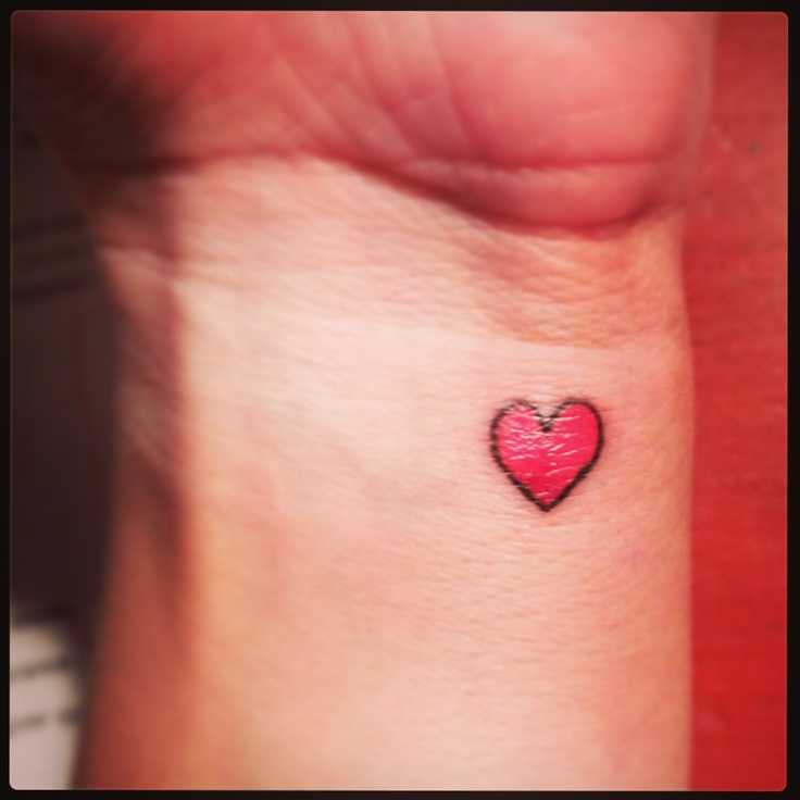 25 tiniest and cutest tattoos ever for Small heart tattoos on wrist
