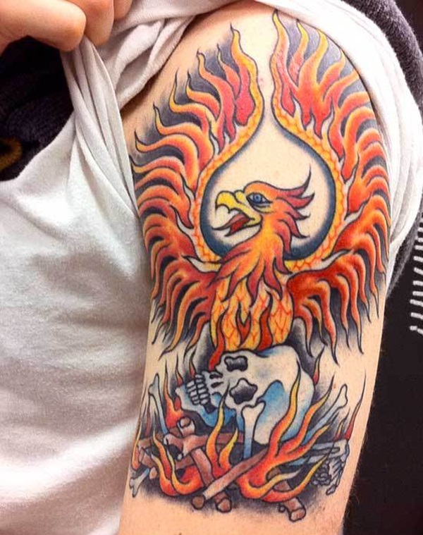 30 best phoenix tattoos for men. Black Bedroom Furniture Sets. Home Design Ideas