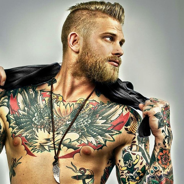 30 best chest tattoos for men. Black Bedroom Furniture Sets. Home Design Ideas