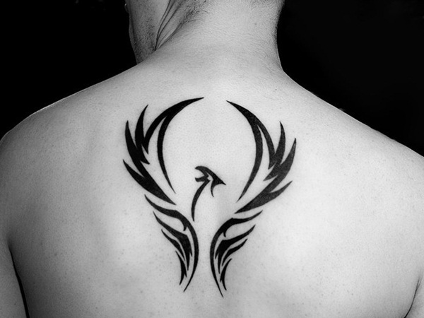 30 best phoenix tattoos for men for Simple back tattoos for guys