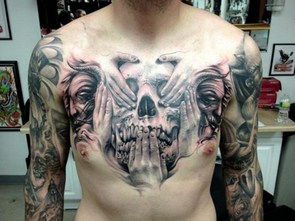 30 best chest tattoos for men for Is a d ointment good for new tattoos
