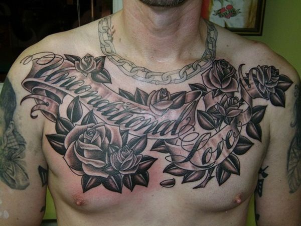 30 best chest tattoos for men for Chest tattoos for women designs