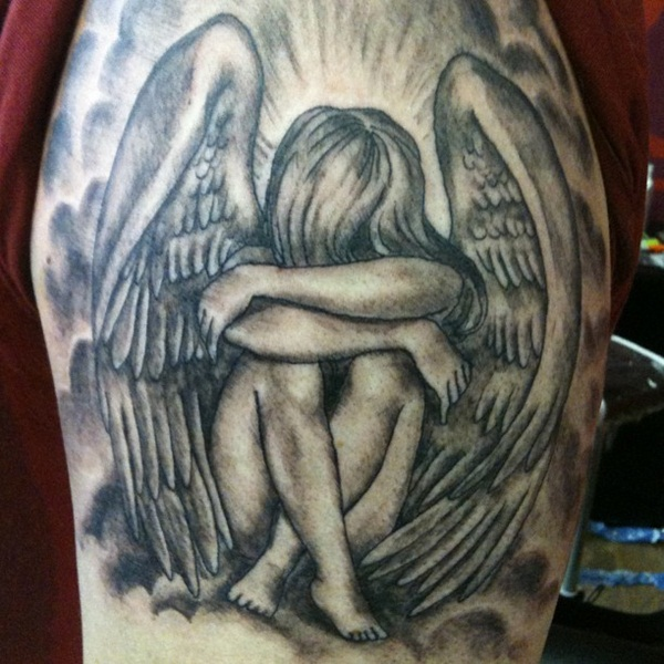 angel tattoo for girls - photo #35