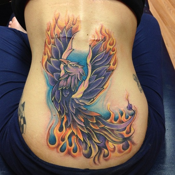 30 best phoenix tattoos for women. Black Bedroom Furniture Sets. Home Design Ideas