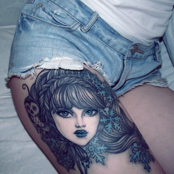 30 sexy leg tattoo designs for women for Tattoos for women s thighs