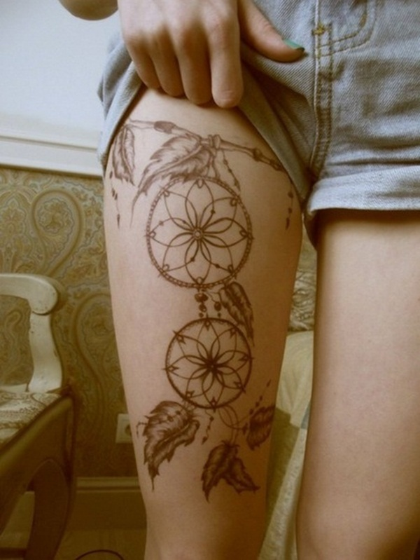 30 sexy leg tattoo designs for women for Meaningful thigh tattoos