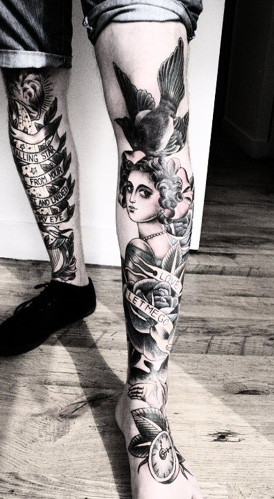30 sexy leg tattoo designs for women