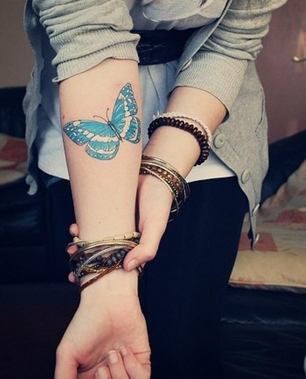 30 Awesome Butterfly Tattoo Designs For Girls