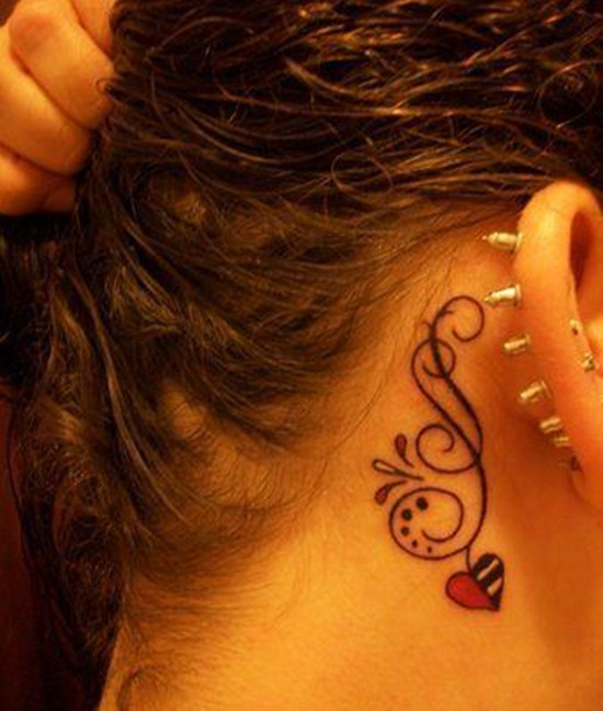30 Unique Ear Tattoo Designs For Girls