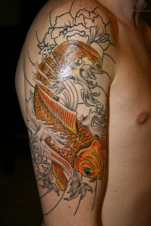 30 best koi tattoo for boys and girls for Japanese coy fish tattoo