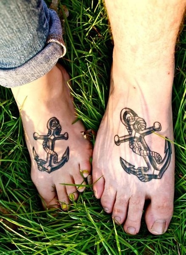 100 appealing anchor tattoo designs and ideas for men and for Ankle tattoos for guys