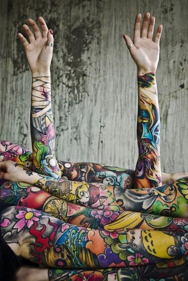 arm tattoo designs for girls (29)