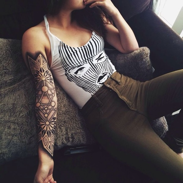 arm tattoo designs for girls (36)
