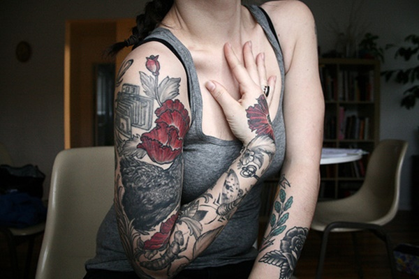 arm tattoo designs for girls (55)