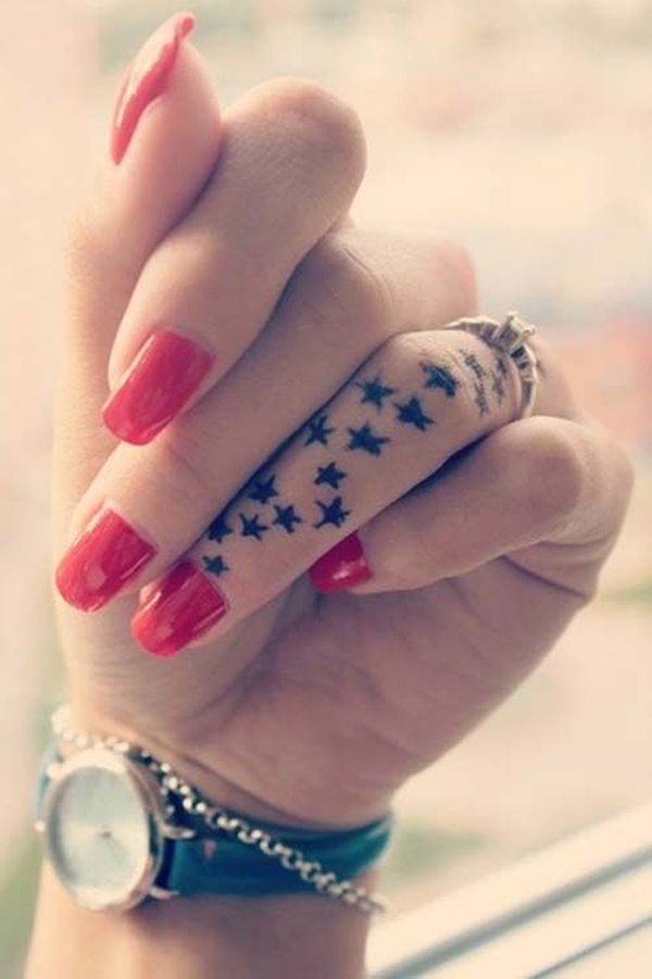 100 Imaganitve Finger Tattoo Designs For Boys And Girls