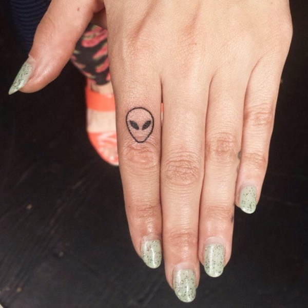 Blacked Out Ring Tattoo