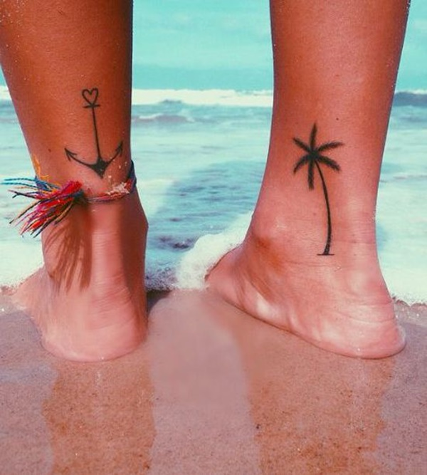 100 adorable ankle tattoo designs to express your femininity for Small cocktail tattoos