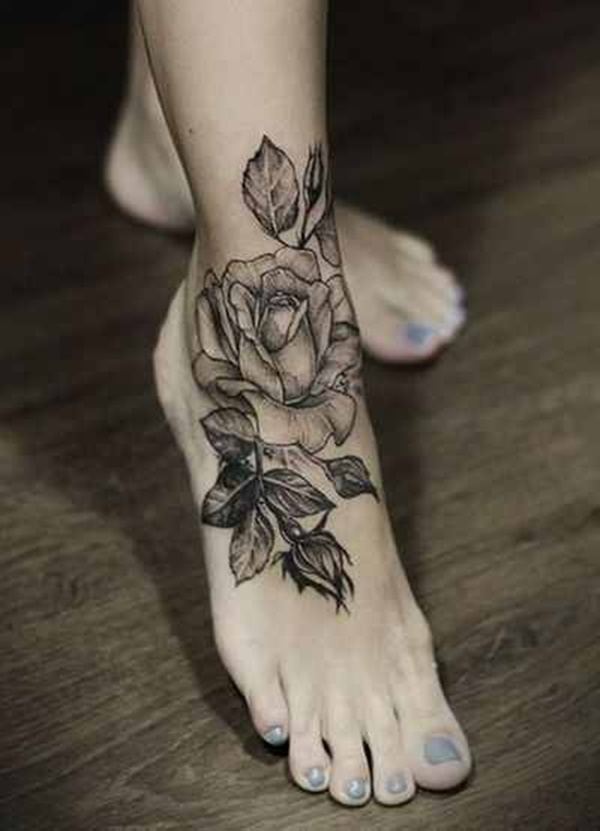 Flower Ankle Tattoo: 100 Adorable Ankle Tattoo Designs To Express Your Femininity