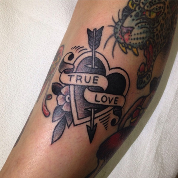 100 delightful heart tattoos designs for your love for True love tattoos
