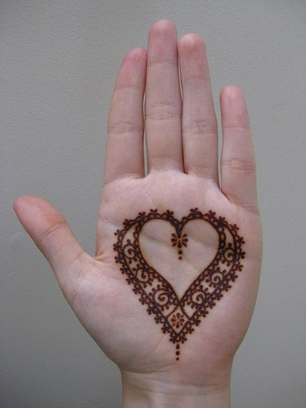 Mehndi Hand Outline : Love tattoo ideas for someone special