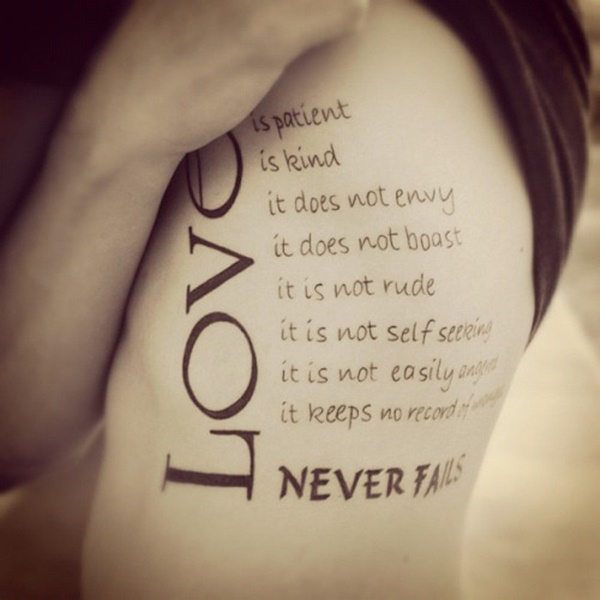 Tattoo Designs Love Quotes: 100 Love Tattoo Ideas For Someone Special