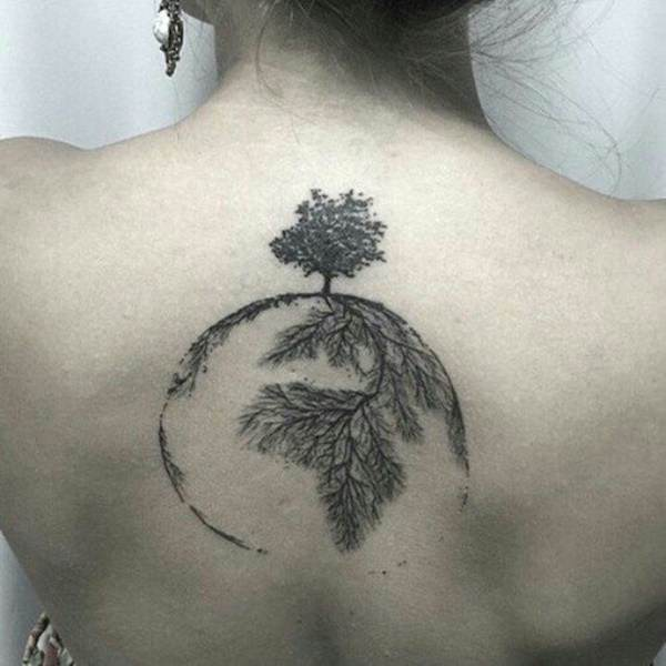 Planet Tattoo Designs Ideas And Meaning: 45 Tree Tattoos That Will Grow Your Inspiration
