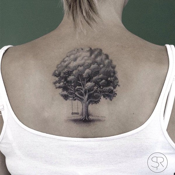 Oak Tree With Roots Tattoo: 45 Tree Tattoos That Will Grow Your Inspiration