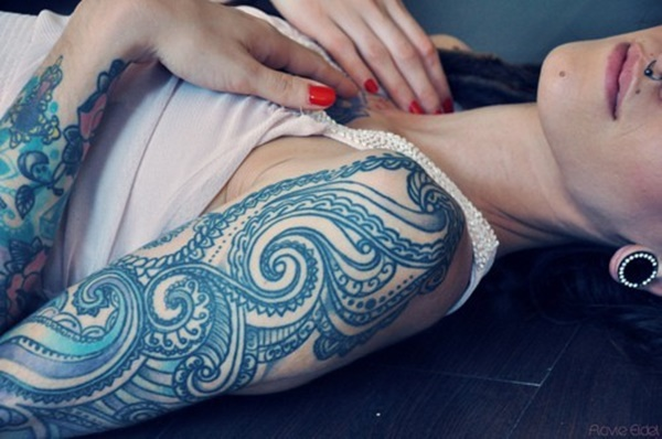 blue tattoo designs (60)
