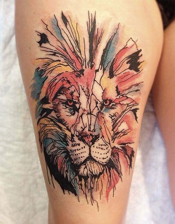 lion tattoo ideas (20)