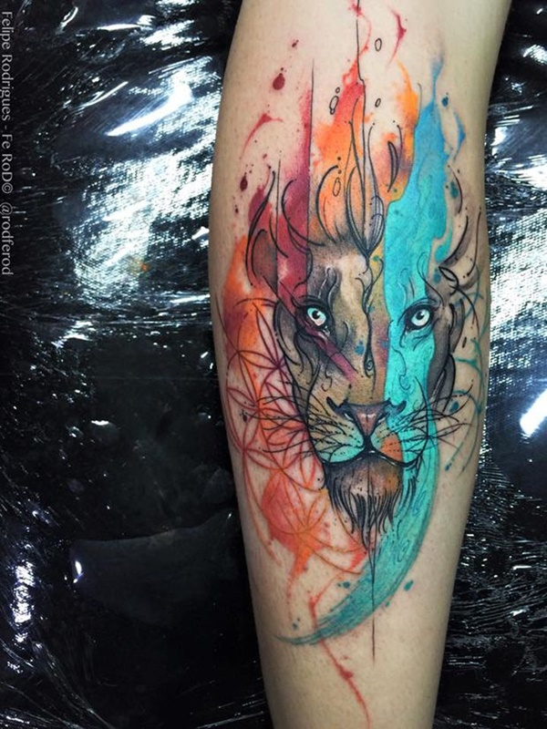 lion tattoo ideas (48)