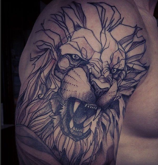 lion tattoo ideas (70)