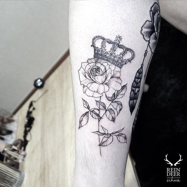 crown tattoo designs (48)