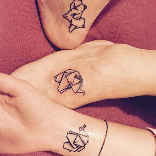 trio of origami... Origami Elephant Tattoo