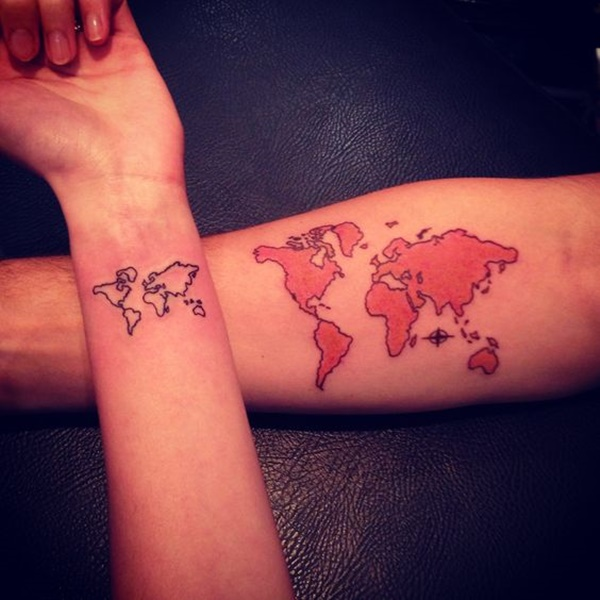 map tattoo designs (33)