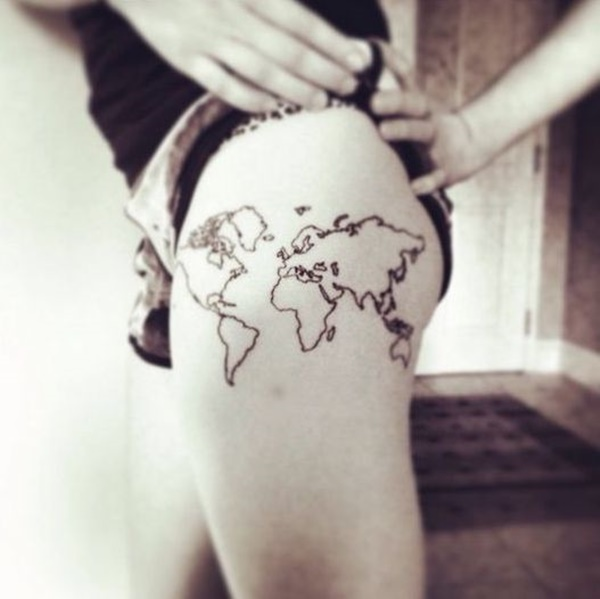 map tattoo designs (41)