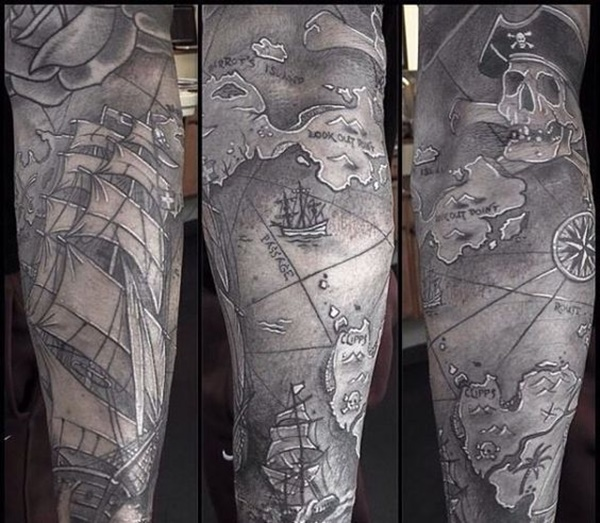 map tattoo designs (48)
