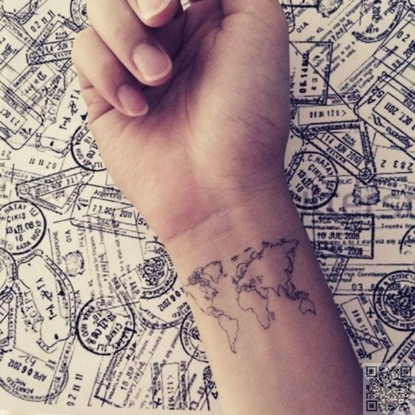 Creative Map Tattoos for the Traveling Type on world map posters, world map wallpaper hd, world map colorful tattoos, easy drawing patterns and designs, world map ink, world atlas tattoo, cool world map designs, world map outline, world map tribal, world map coloring page, world map murals, world map illustrations, world map drawing, world regions map, world compass tattoo, world map ideas, compass rose designs, henna designs, world map tattoos for men, world in hands tattoo,