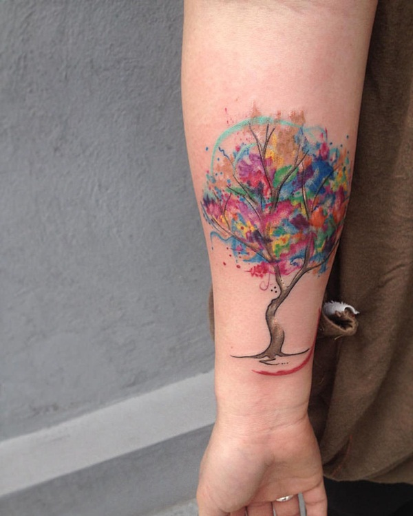 Artisticly Rich watercolor tattoo Designs (100)