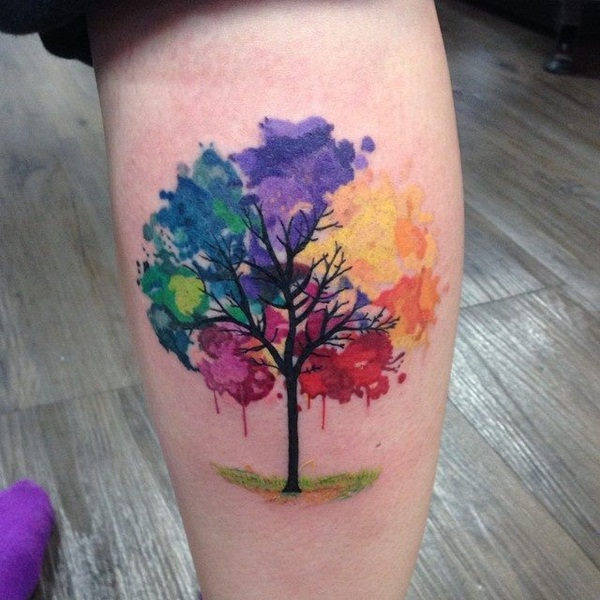 Artisticly Rich watercolor tattoo Designs (124)