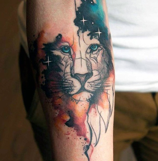 Artisticly Rich watercolor tattoo Designs (125)