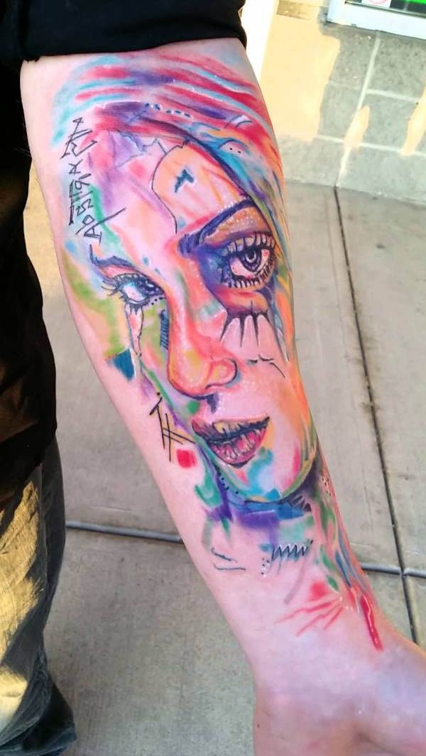 Artisticly Rich watercolor tattoo Designs (130)