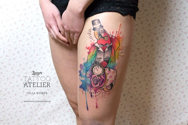 Artisticly Rich watercolor tattoo Designs (131)