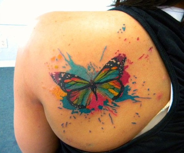 Watercolor Butterfly Tattoos