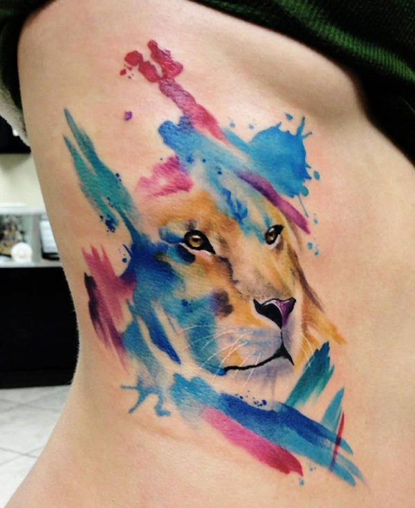 Artisticly Rich watercolor tattoo Designs (151)
