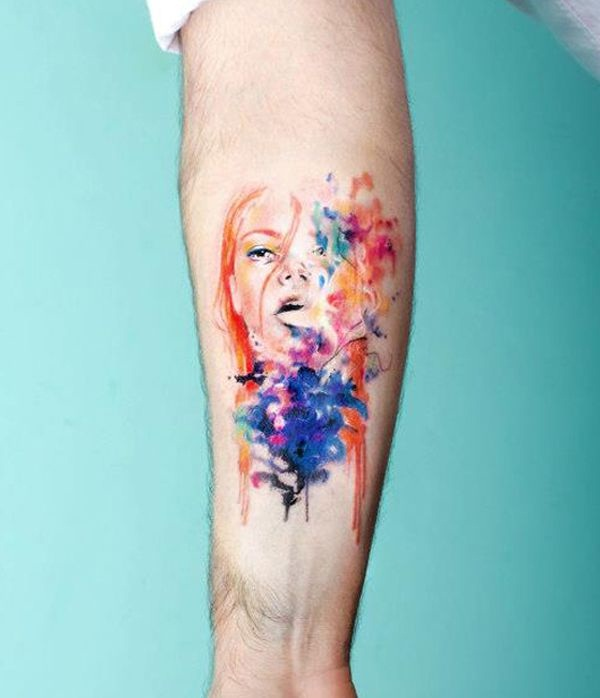 Artisticly Rich watercolor tattoo Designs (163)