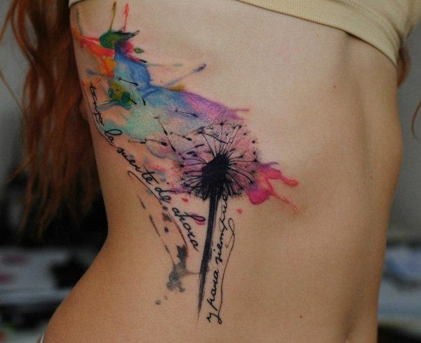 Artisticly Rich watercolor tattoo Designs (166)