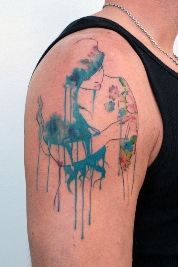 Artisticly Rich watercolor tattoo Designs (172)