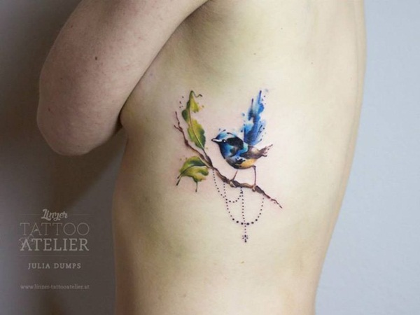 Artisticly Rich watercolor tattoo Designs (92)