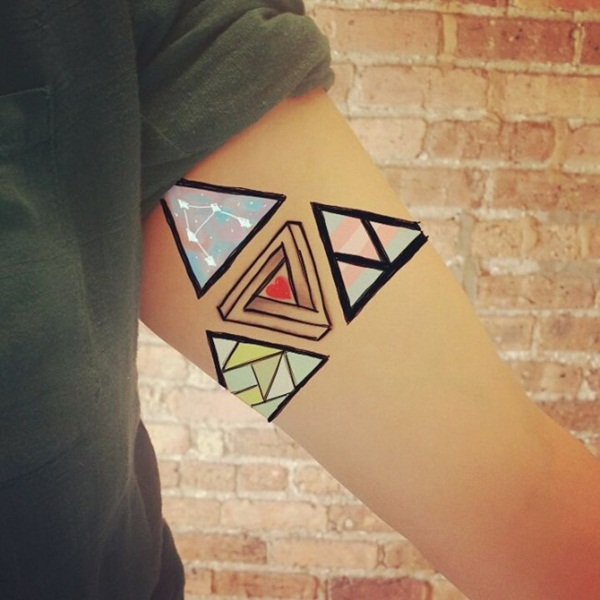 Genius Geometry Tattoo Ideas to Try This Year (105)